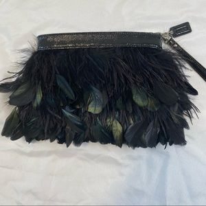 Coach Limited Edition Feather Zippered Wristlet